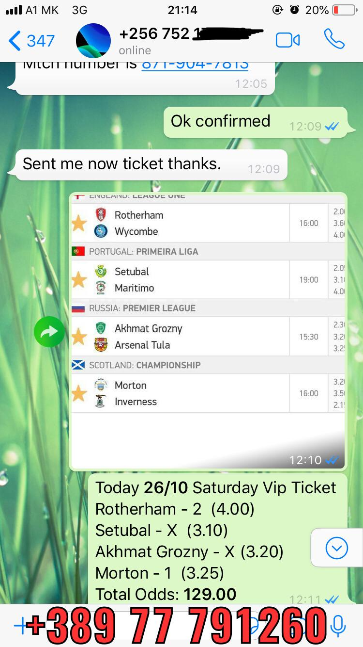 26 10 Saturday win VIP ticket