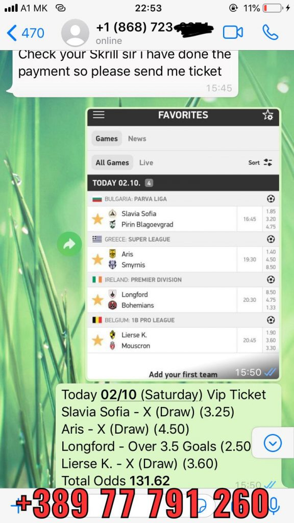SOLOPREDICTION FIXED MATCHES BETTING WON 02 10