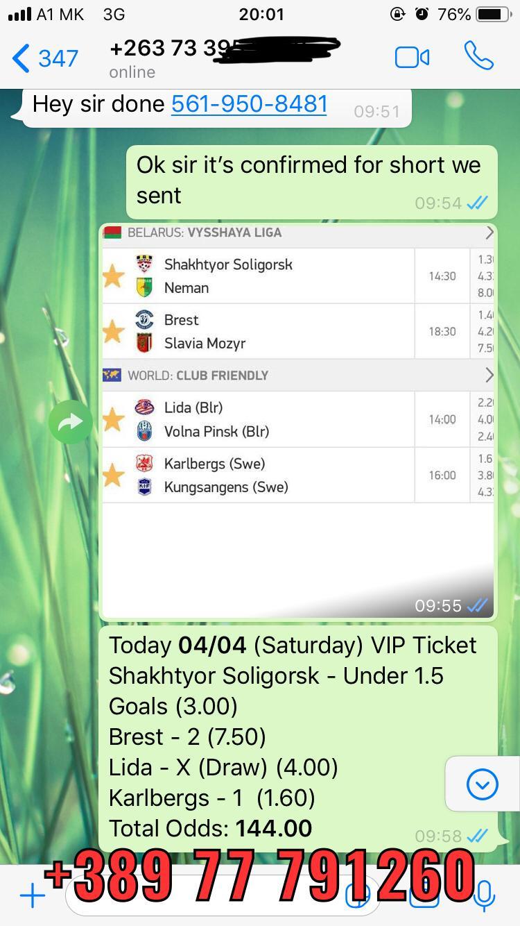 VIP COMBO TICKET WON 144 ODD