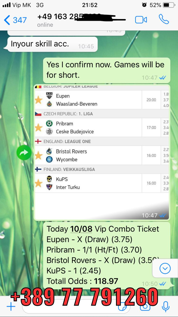 combo fixed matches vip ticket 10 08 118 odds