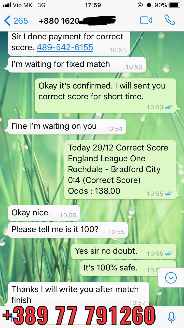 correct score prediction 29 12