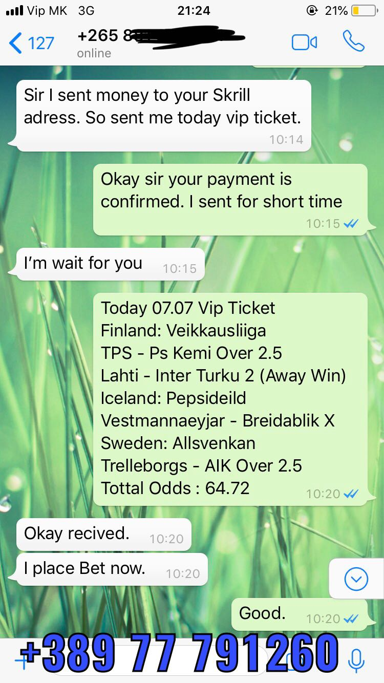 double fixed matches proof