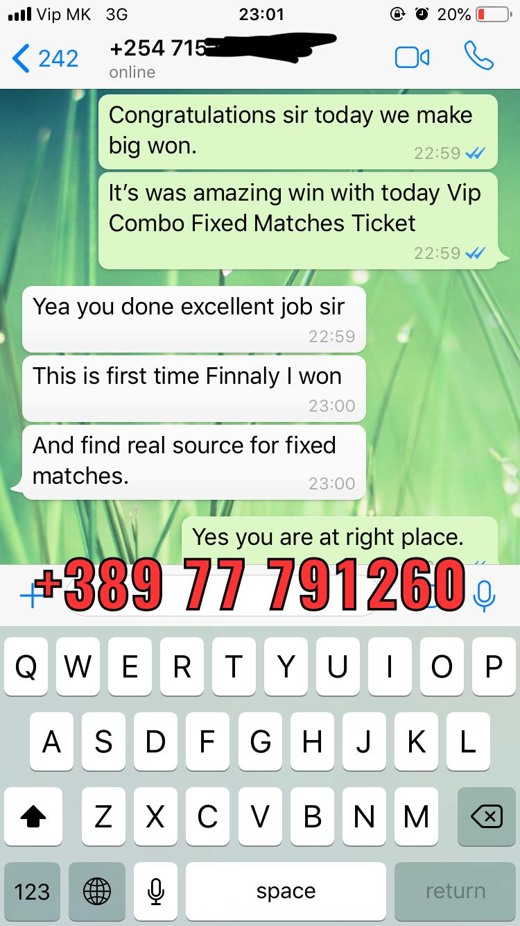 fixed matches proof from 01 12 combo