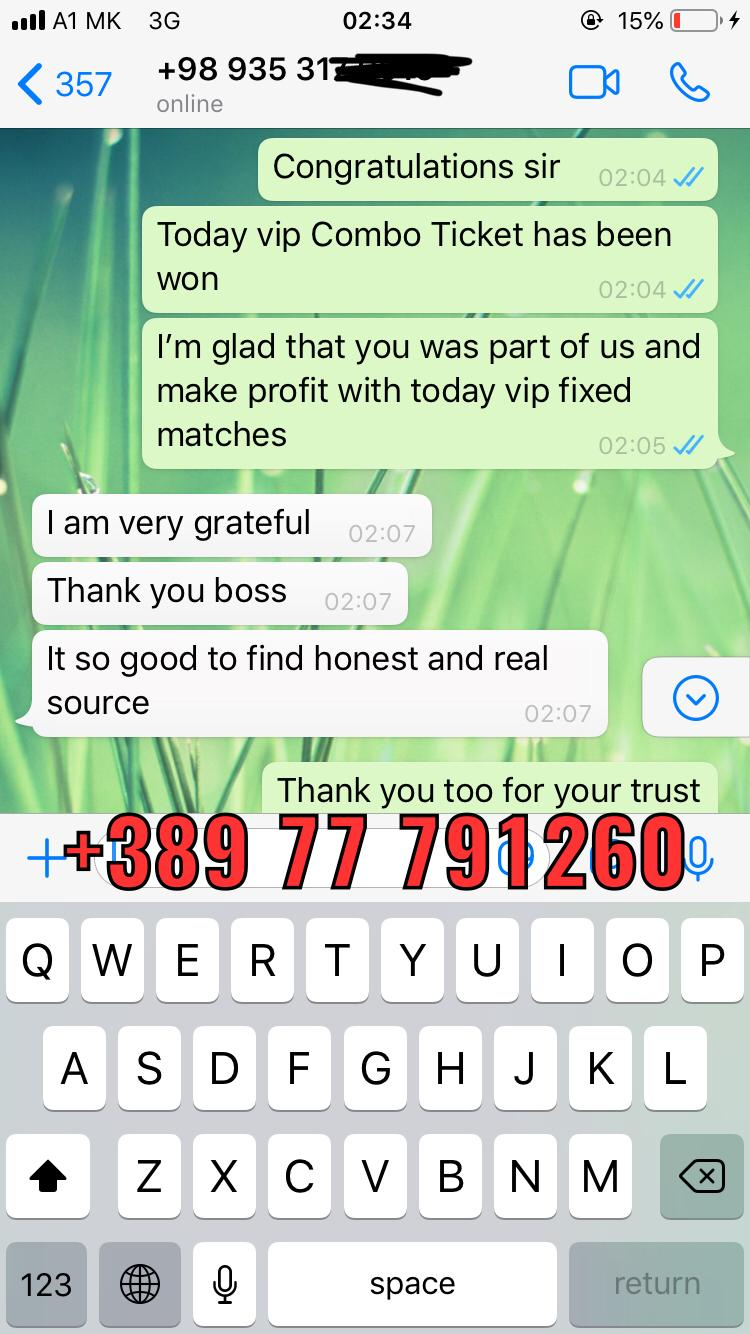 fixed matches proof WhatsApp