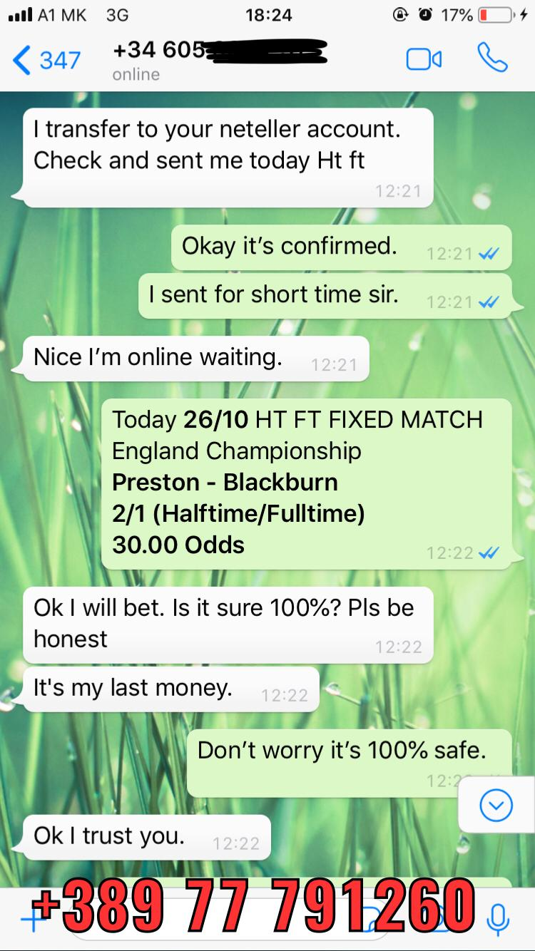 ht ft 26 10 fixed matches won