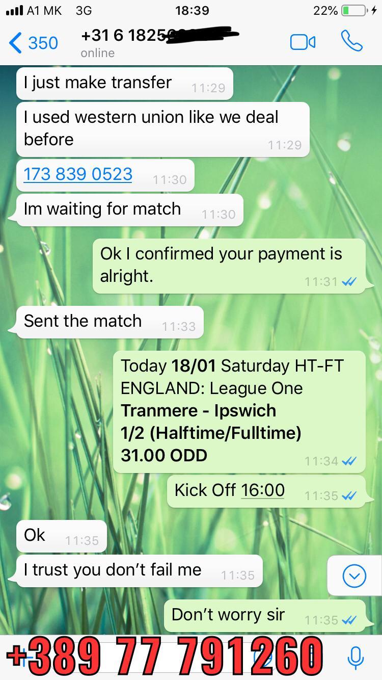 ht ft fixed match 31 odd won