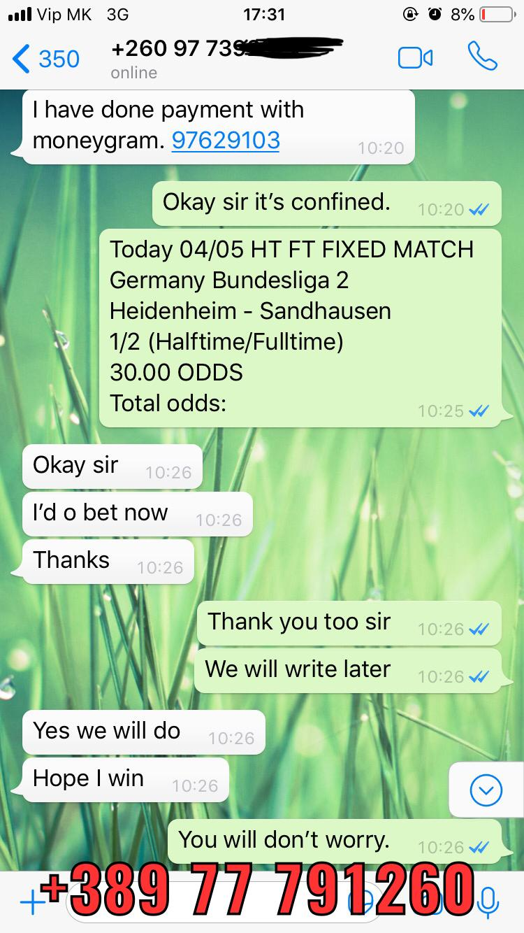 ht ft fixed matches