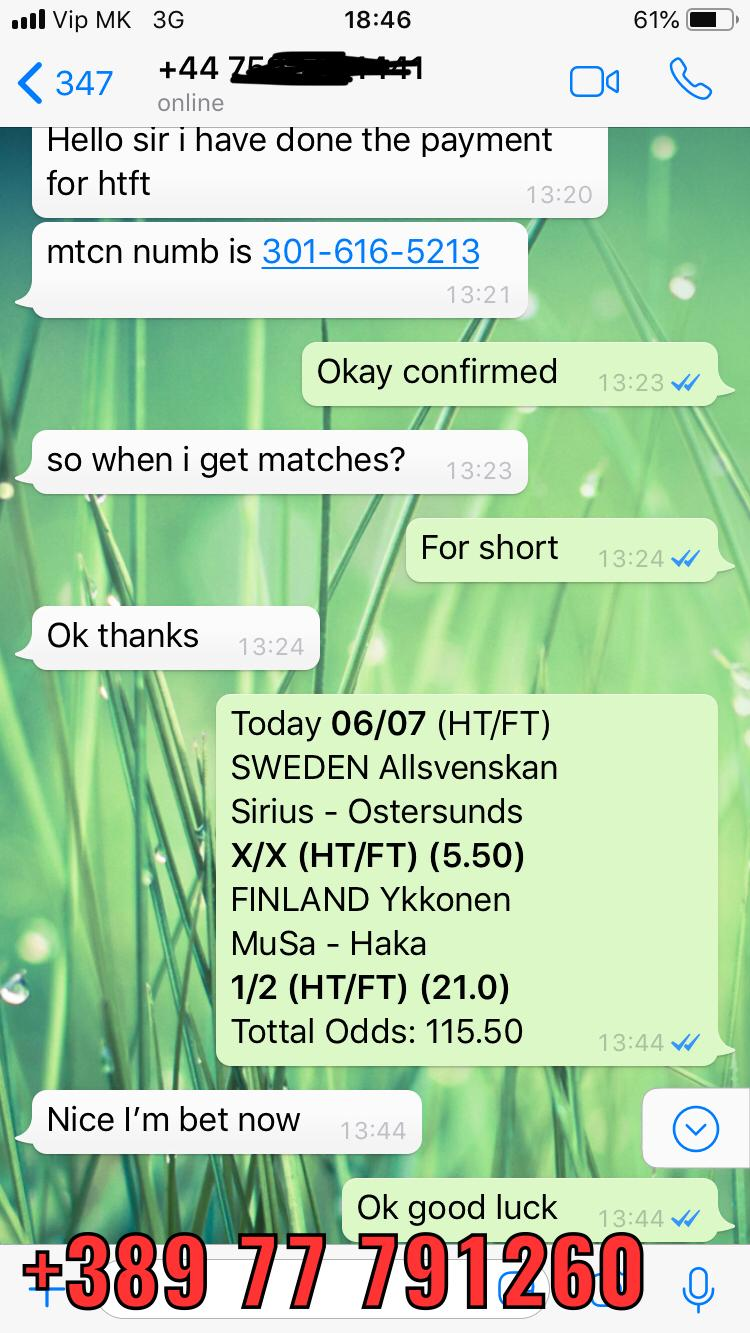 ht ft fixed matches double 0607