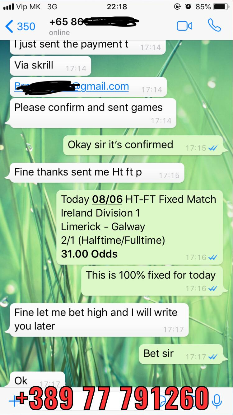ht ft fixed matches won 100