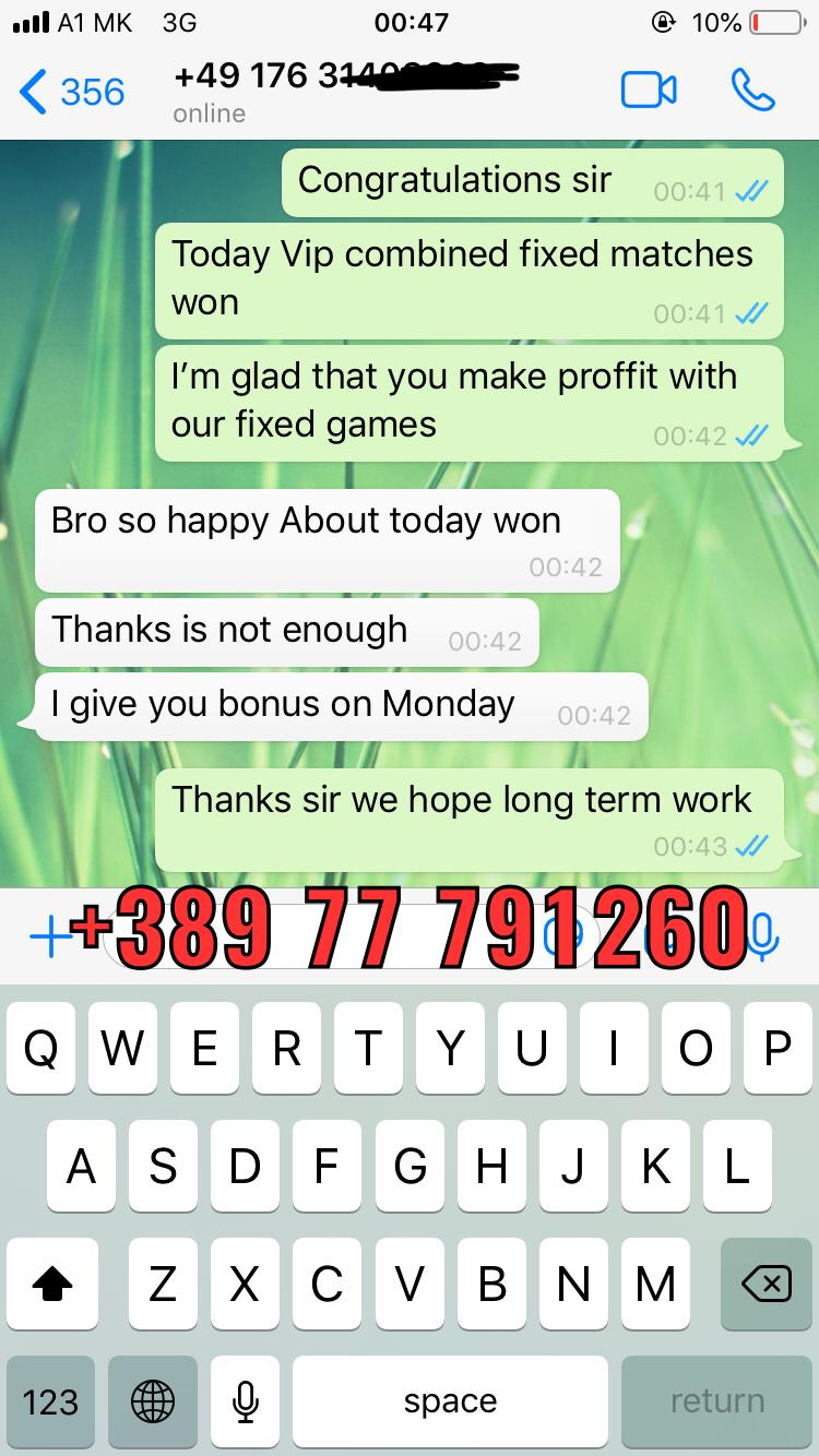 proof WhatsApp fixed matches 07 11 combined