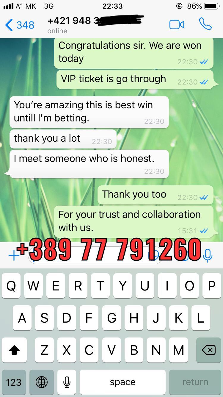 proof whatsapp vip ticket won 11 01