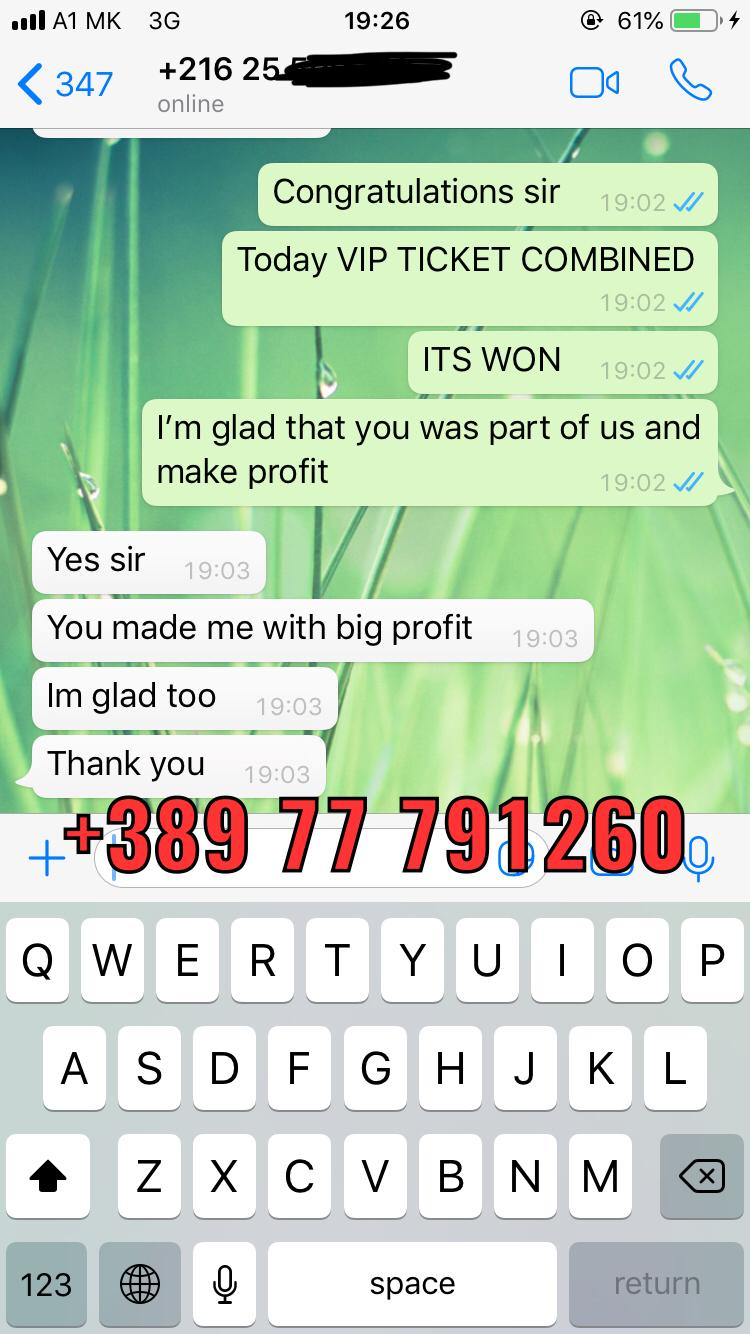 proof won fixed matches vip ticket