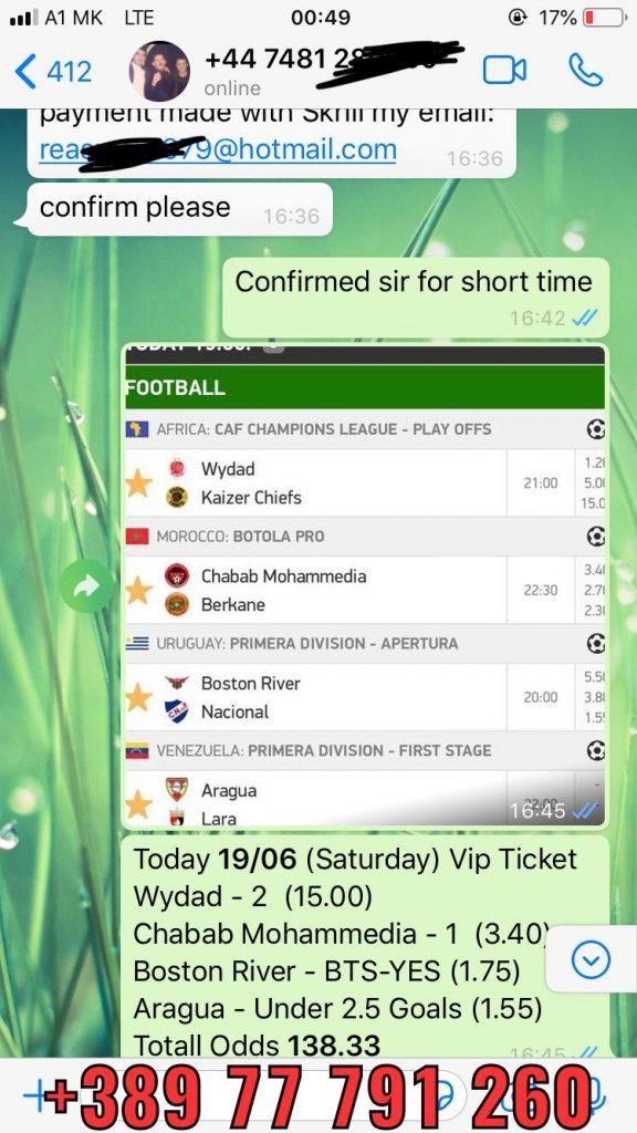 soccer betting tips 1x2 won 19 06