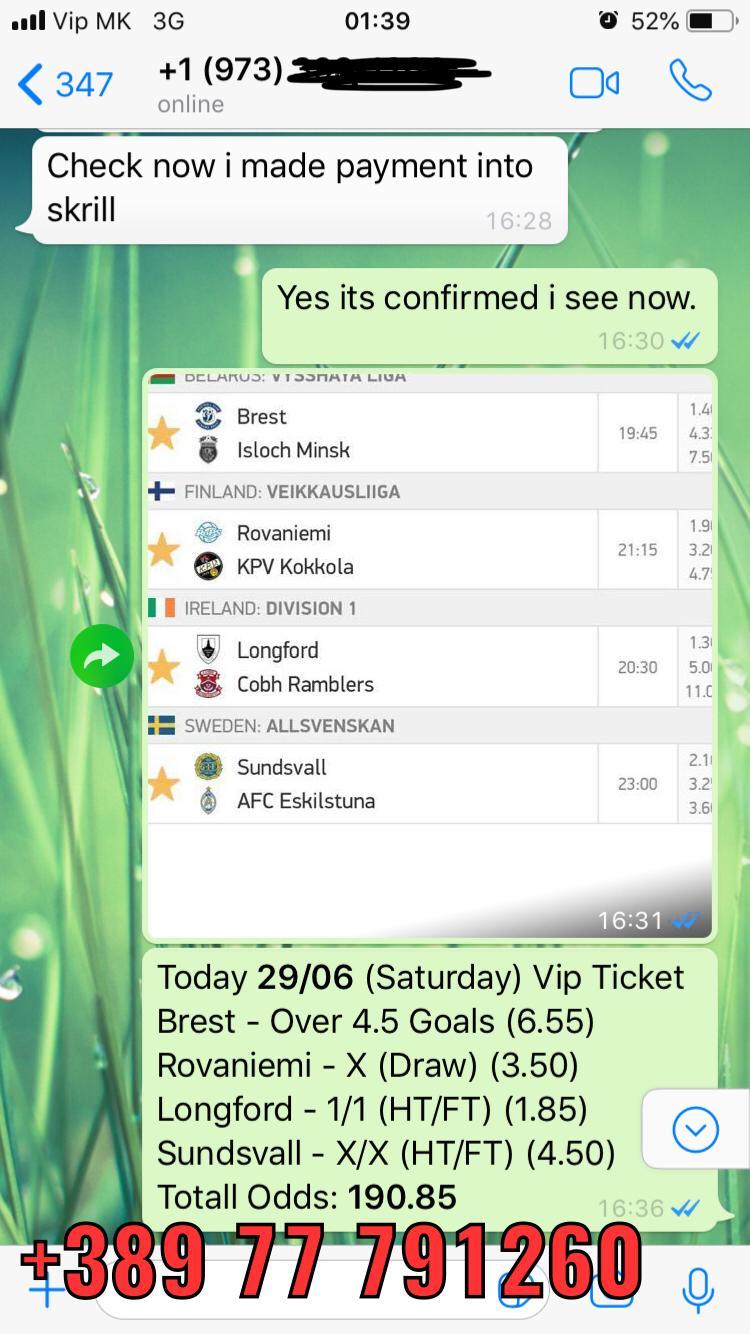vip ticket 29 06 190 odds won