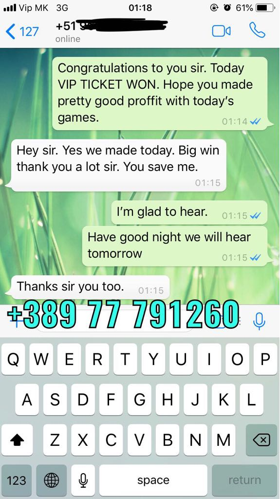 vip ticket combo fixed matches win