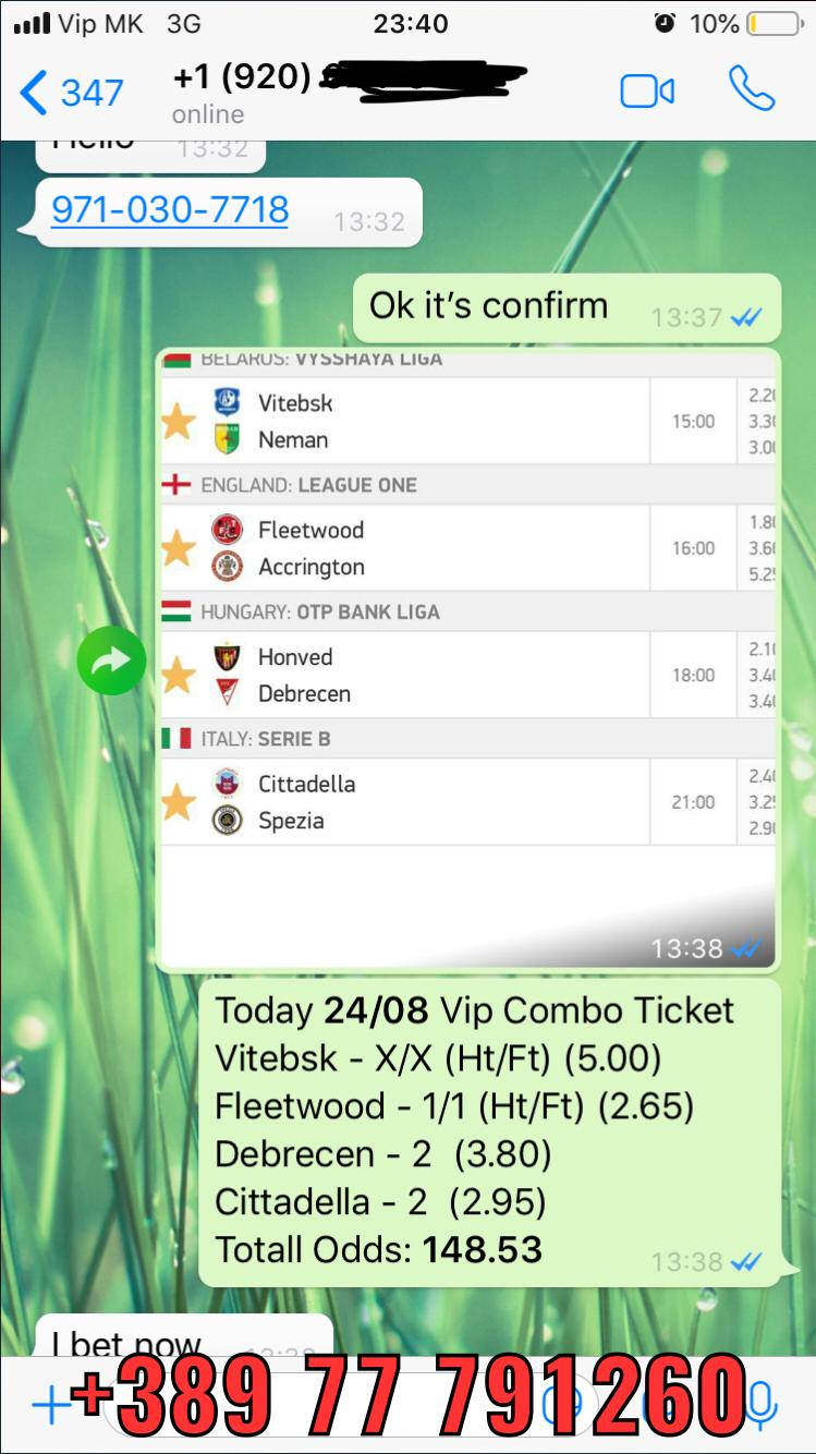 vip ticket fixed matches 148 odds 24 08