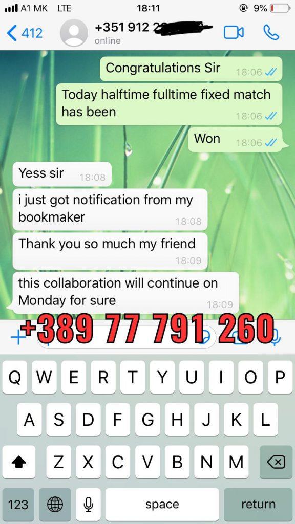 whatsapp fixed match proof ht ft 19 06