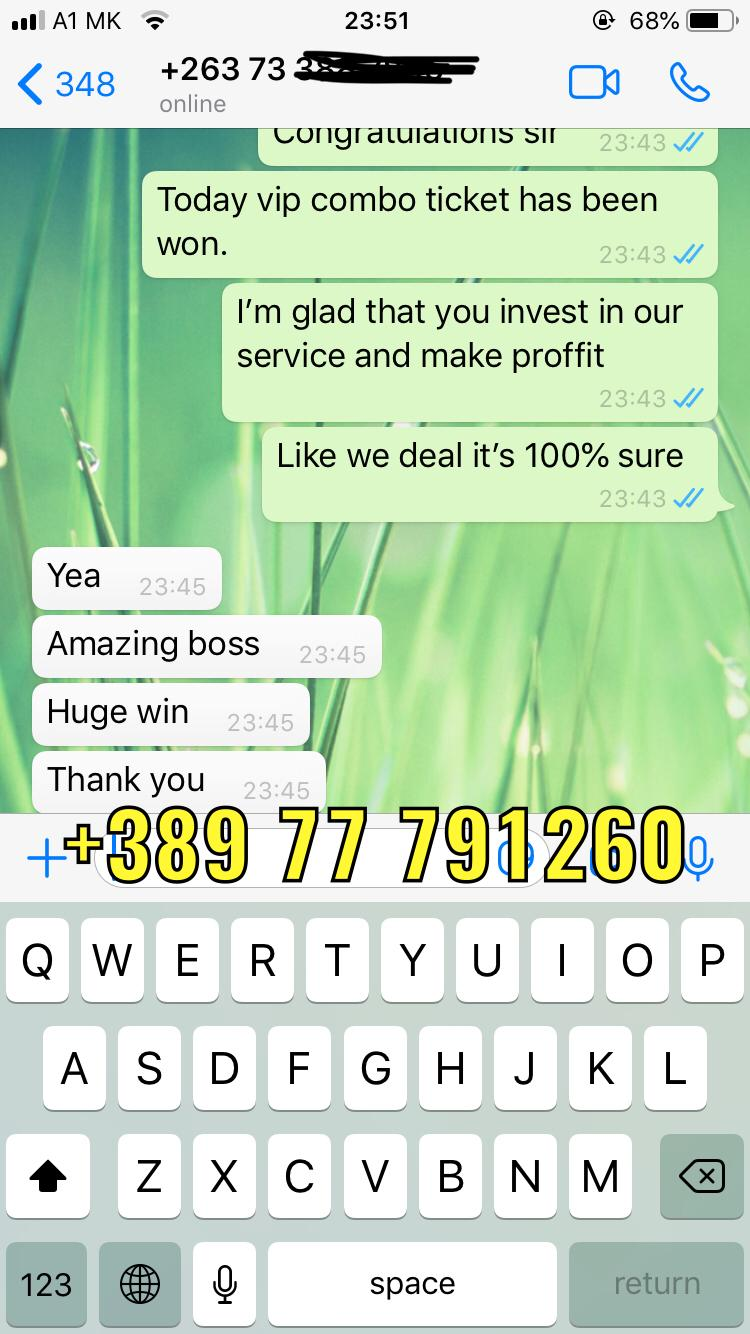 whatsapp fixed matches vip ticket