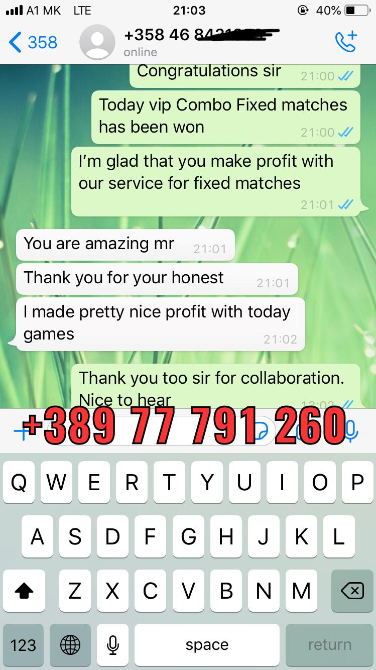 whatsapp proof fixed matches won 23 01