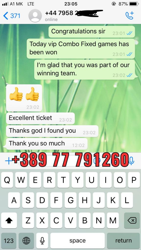 whatsapp proof of fixed matches won 27 03