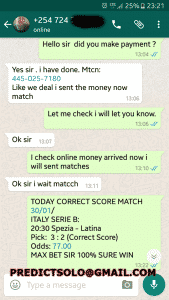 OFFER FOR FIXED CORRECT SCORE