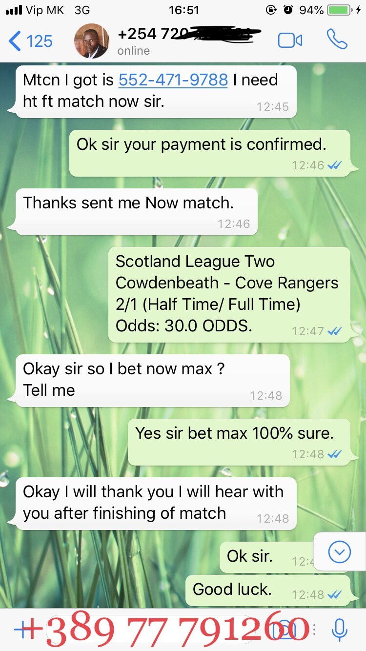 SOLOBET FIXED MATCHES PROOF